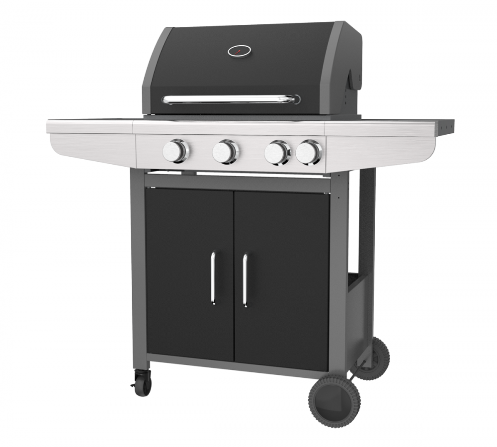 Double Wall Hood Gas BBQ Grill