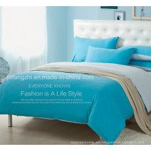 Hoja de cama plana de lujo del precio de fábrica del tamaño completo 300tc