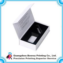 Caja blanca a todo color promocional hecha a mano de la cinta de lujo con el logotipo de encargo
