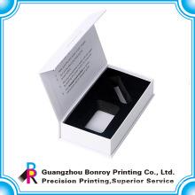 Luxury promotional handmade full color ribbon white box with custom logo