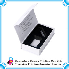 Роскошная выдвиженческая handmade полного цвета белой коробки ленточкой с изготовленным на заказ логосом