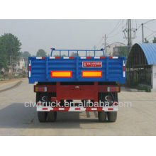cheap one axle semi trailer with side wall