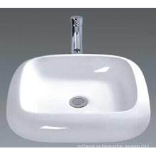 Cuarto de baño de cerámica del cuarto de baño blanco de lujo (045)