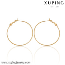92077-Xuping Jewelry Fashion Popular Hoop Earrings with Gold Plated