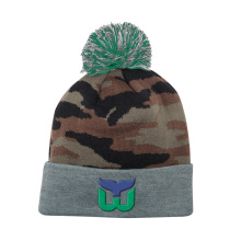 Top Quality Fashion Camo Winter Knitted Beanie Hat with Logo