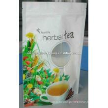 embalagem de bebidas, stand up bolsa de chá de flores, pacote de suco