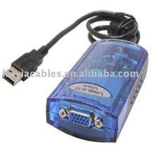 Adaptateur USB 2.0 à VGA carte vidéo externe pour ordinateur