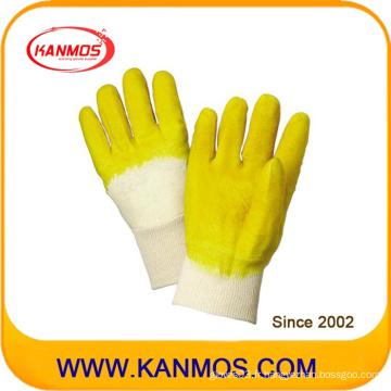 Gants de travail en caoutchouc résistant à la coupe de sécurité industrielle jaune (52001)