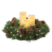 Decoration Gold Christmas Candle Wreath holder