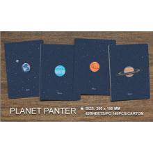 New Vintage Romatic Starry Sky Series Documento de papel Kraft / Diário de diário / Bloco de notas / Memo Pads