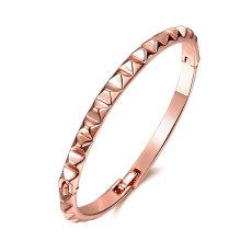 Простой дизайн 18-каратного розового золота женщины Браслет