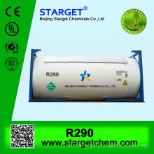 99% газообразный хладагент / пропан r290 высокой чистоты для продажи