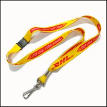 Lanières faites sur commande personnalisées de sécurité de rupture de polyester de logo d'impression pour des insignes d'identification