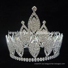 Corona de cristal de la tiara del concurso de belleza
