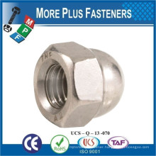 Made in Taiwan Hexagon Domed Cap Nut High Type DIN 1587 1987 Stainless Steel A4