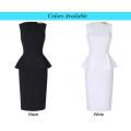 Kate Kasin Sleeveless Classic Hips-Wrapped Retro Vintage White Bodycon Pencil Dress KK000390-2
