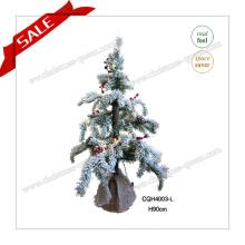 90cm Nuevo árbol de navidad del diseño con la luz del LED para la decoración casera