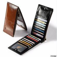Cheap Long Style Zipper Men Leather Wallet