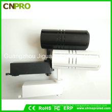 COB 30W LED Track Light Noir avec boîtier blanc pour le commerce