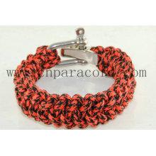 fivela ajustável pulseira de camo vermelho e preto