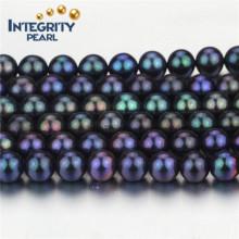 Chaîne de perles de qualité supérieure en forme de paon de haute qualité Taille 7-8mm de qualité AA Chaîne réelle de perles d'eau douce