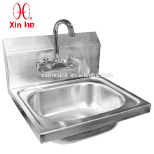 Splash Mounted Stainless Steel Hand Sink, NSF Wall Mounted Stainless Steel Commercial Hand Sink for Catering