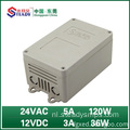 Outdoor-voeding 24VAC 5A 12VDC 3A