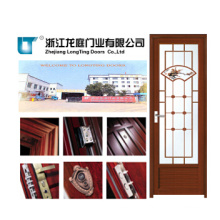 Fancy Plating Glass Aluminum Bathroom Door