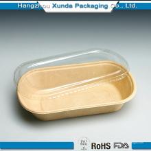 Пользовательский лоток для бумаги с печатным рисунком / Теплый поддон для продуктов с крышкой