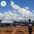 Newest technology !! Rubber tire recycling pyrolysis to crude oil plant