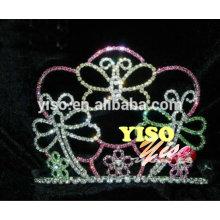 Tiara cristalina de la manera de la mariposa del color mezclado del vintage