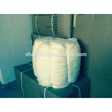 Tops de coelho de angora chinês de alta qualidade Branco 15.0MIC / 45MM