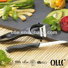 Classical Black Girp Paring Knife with Peeler
