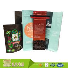 Emballage gratuit de sac de café de papier d'aluminium de catégorie comestible imprimé par échantillon gratuit avec la valve ou la cravate d'étain