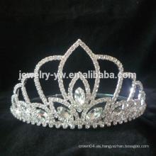 Corona de la tiara de la flor del cristal de la boda del desfile para el partido del funcionamiento de la boda
