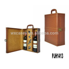 New arrival!professional leather wine case for 2 bottles