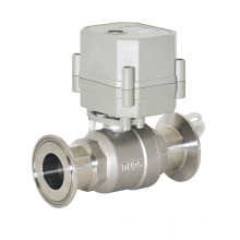 "1 ""AC110V-240V aço inoxidável elétrico sanitária Clamp válvula de esfera direta"