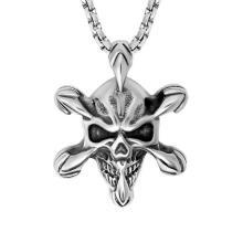 Joyería gótica de la moda del acero inoxidable del colgante del collar del cráneo 316L