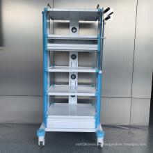 Carro de instrumentos desmontable de aleación de aluminio de hospital