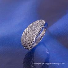 Anel de luxo com rhodium de luxo