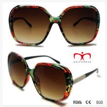 Plastic Ladies Sunglasses with Metal Decoration (WSP508292)