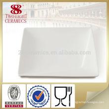Cheap dinner plates white porcelain dinner square plate dinner plate mat