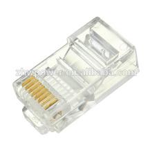Chine fournit 8p8c cat6 connecteur RJ45, réseau rj45, rj45 plug cat6 Câble modulaire