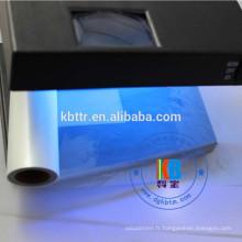 ruban d'imprimante fonctionnalité sécurité uv bleu code à barres ruban