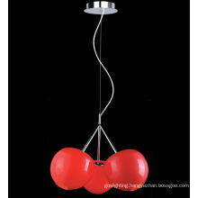 Top Quality Hot Sell Modern Cherry Glass Pendant Lamp. (MD4045-3R)