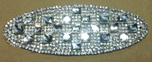 Ellipse Rhinestone Trimming, Dazzling Diamante Hot Fix Motif