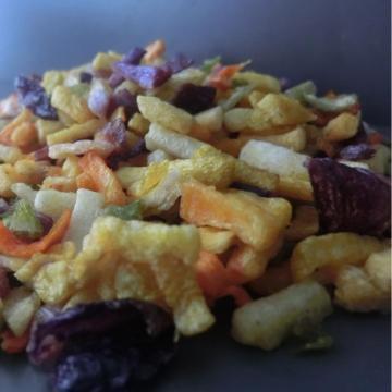 crispy snacks mixed vacuum fried vegetables