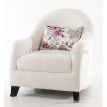 Elegant white wooden arm sofa chair XYD237