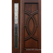 Walnut Craftsman Classical Style Solid Wood Exterior Door Painted