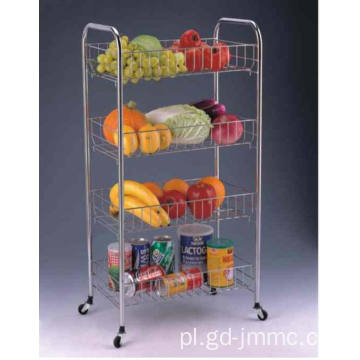 4-Tier Rolling Storage Rack